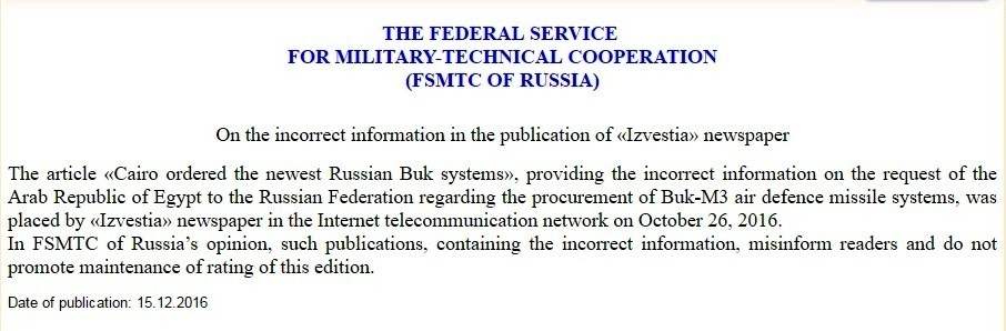 The article Cairo ordered the newest Russian Buk systems.jpg